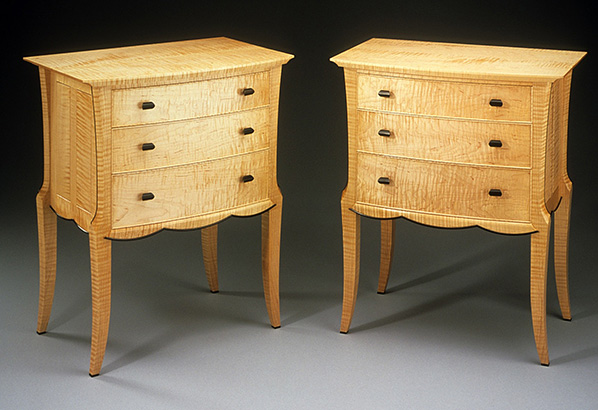 Bow Front Nightstands